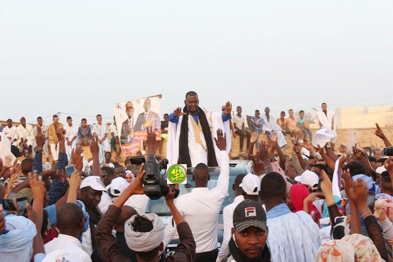 Le candidat Dah Birama Abeid présidence un meeting électoral à Akjoujt