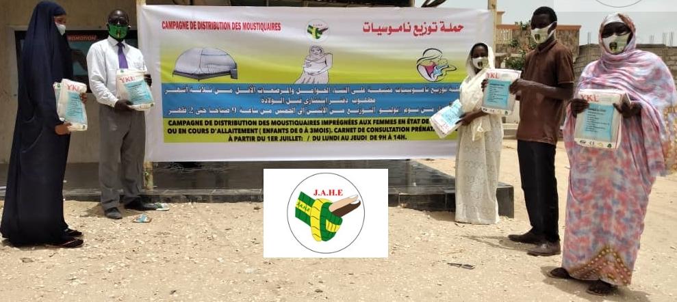 Lutte contre le paludisme : L'Association JAHE distribue des moustiquaires imprégnées aux femmes enceintes et allaitantes